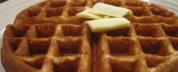 Gluten free whole grain blender waffles.